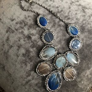 Chico's statement necklace blue
